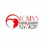 Woman Against Hiv/aids Letter The Support For World Aids Day And National Hiv/aids And Aging Awarene poster