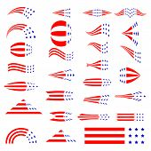 Set Of Flat Icons For 4th Of July, Independence Day Of The United States. Vector Illustration. Icons poster