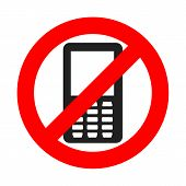 No Phone Sign. Vector Illustration. No Cell Phone. Do Not Use Your Phone poster