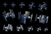 3d Illustration Instances Of An Unmanned Spacecraft Or Satellite Orbiter With The Clipping Path Incl poster