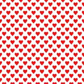 Seamless Hearts Pattern. Repeating Hearts Symmetric Ornament. Tiled Back. Repeatable Design For Deco poster