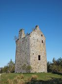 Invermark Castle Remains, Angus, Scotland.