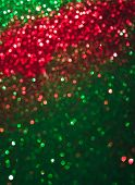 Abstract Bokeh Multi Colors Sparkles, Festive Christmas Sparkling Lights Bokeh Background, Red And G poster