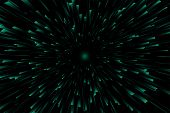 Hyper Speed. Vector Design. Abstract Modern Background. Warp Drive. Futuristic Space Tunnel For Trav poster