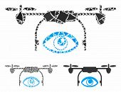 Eye Spy Drone Composition Of Rough Items In Variable Sizes And Color Tinges, Based On Eye Spy Drone  poster