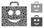 Smile Case Mosaic Of Uneven Items In Various Sizes And Color Hues, Based On Smile Case Icon. Vector  poster
