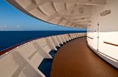 Promenade deck of a cruise ship