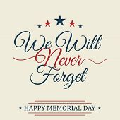 Happy Memorial Day Background. National American Holiday Illustration. Vector Memorial Day Greeting  poster
