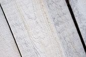 White Wooden Plank Close Up. Wooden Boards Painted White Are Located Diagonally, Texture. Wood Plank poster
