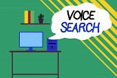 Word Writing Text Voice Search. Business Concept For Allows The User To Use A Voice Comanalysisd To  poster