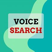 Text Sign Showing Voice Search. Conceptual Photo Allows The User To Use A Voice Comanalysisd To Sear poster