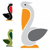 picture of shadoof  - Vector image of an stork on white background - JPG
