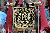 stock photo of spqr  - GRANADA ANDALUSIA SPAIN  - JPG