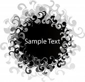 foto of hand drawn  - Black Swirl Banner you can put your text on - JPG