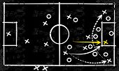 image of penetration  - Abstract vector tactic strategy concept sketched on a blackboard - JPG