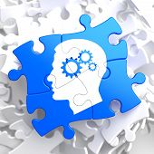 pic of cogwheel  - Psychological Concept  - JPG