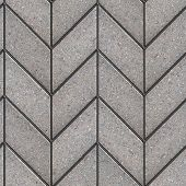 stock photo of parallelogram  - Gray Figured Parallelogram Pavement Laying as Spikelet  - JPG