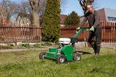 picture of grass-cutter  - Lawn Aerator - JPG