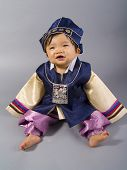 picture of hanbok  - male Korean baby in traditional Hanbok clothing - JPG