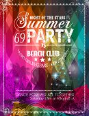stock photo of beats  - Beach Party Flyer for your latin music event or poster - JPG