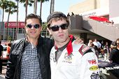 LOS ANGELES - APR 12:  Sam Witwer, guest at the Long Beach Grand Prix Pro/Celeb Race Day at the Long