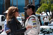 LOS ANGELES - APR 12:  Amy Purdy, Phil Keoghan at the Long Beach Grand Prix Pro/Celeb Race Day at th