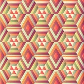 Geometric Hexagon Op Illusion