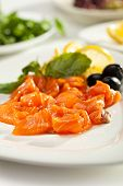 Salted Salmon with Lime and Olives