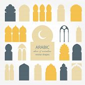 pic of windows doors  - Arabic door and window vector silhouette - JPG