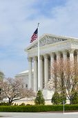 U.S. Supreme Court in Spring - Washington DC, United States of America