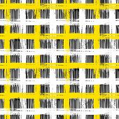 image of cross-hatch  - Vector seamless plaid pattern with bold brushstrokes and stripes in bright multiple colors can be used for web - JPG