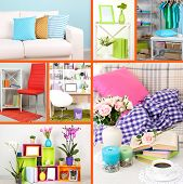 Home interior collage