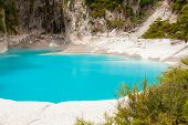 pic of infernos  - Incredibly blue and highly acidic Inferno Crater Lake at Waimangu geothermal area - JPG