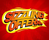 Sizzling offer sale design, pop-art style. poster