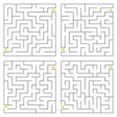 pic of maze  - Set of vector mazes - JPG