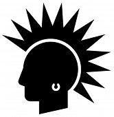 stock photo of iroquois  - Punk vector icon - JPG