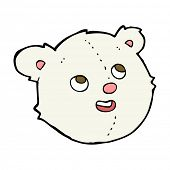 cartoon polar bear face