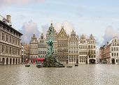 pic of tourist-spot  - view of Grote Markt square in old town - JPG