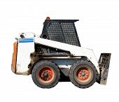 pic of bobcat  - a small excavator Bobcat on white background - JPG