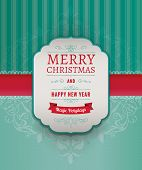 pic of damask  - Merry Christmas Greeting Card - JPG