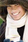 picture of pacific islander ethnicity  - Pacific Islander woman drinking hot chocolate - JPG