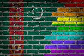 pic of turkmenistan  - Dark brick wall texture  - JPG