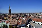 foto of sibiu  - The old city with istorical centre of Sibiu Romania - JPG