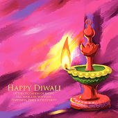 stock photo of diya  - vector illustration of holy diya for Diwali festival - JPG