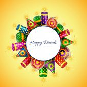 stock photo of diwali  - Vector happy diwali background with space for your text - JPG