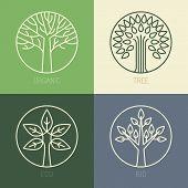 image of monogram  - Vector organic badges  - JPG