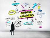 picture of strategy  - Digital Marketing Branding Strategy Online Media Concept - JPG