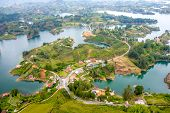 picture of medellin  - Beautiful breathtaking aerial view of Guatape in Antioquia - JPG