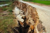 picture of crevasse  - The Country Road is Cracked when in the River not have Water  - JPG