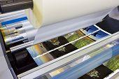 image of machine  - Printing machine detail of laminator - JPG